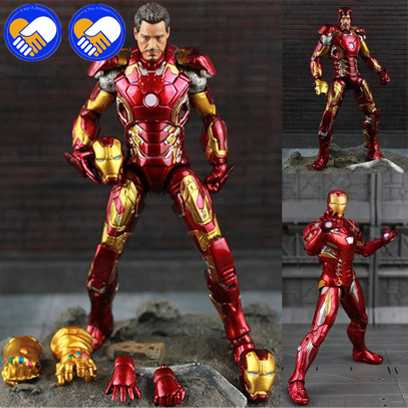 где купить New Hot TheAvengers IronMan Action Figure Model 20cm MK42 MK43 Iron Man Doll PVC ACGN figure Toy Brinquedos Anime kids Toys по лучшей цене