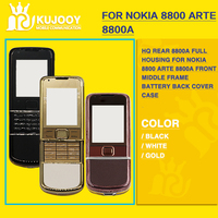 HQ Rear 8800A Full Housing For Nokia 8800 Arte 8800a Front Middle Frame Battery Back Cover