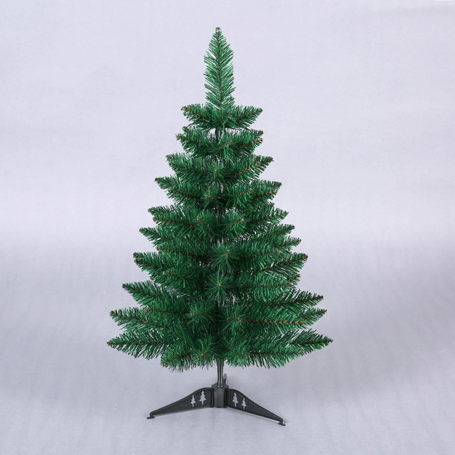 60cm mini artificial green pointy christmas tree small xmas tree new year home ornaments desktop decorations