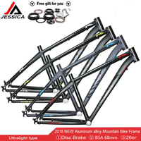 JESSICA 26er Mountain Bike Frames MTB Bicycle Frame Bicycle Ultralight Aluminum Frames Bicycle Headset 44mm16/17inch Bike Frame