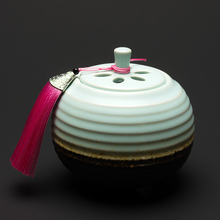 PINNY Ceramic Electric Incense Burner Powder Essential Oil Censer Clean Air Aromatherapy Electricity Base