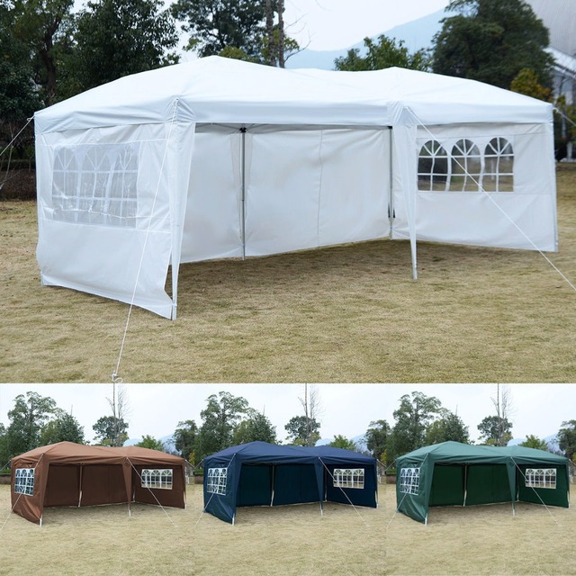 10  X 20  EZ POP UP Tent Gazebo Wedding Party Folding Canopy Carry Bag & 10