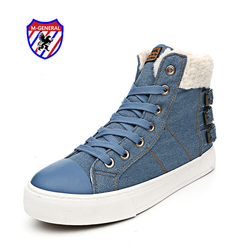 M.GENERAL Women Fashion Casual Shoes Ankle Boots Winter Solid Denim Plush Snowshoe Walking Zapatos Mujer Scarpe Donna M6905 лазер для охоты unbranded fit 11 20 a40002