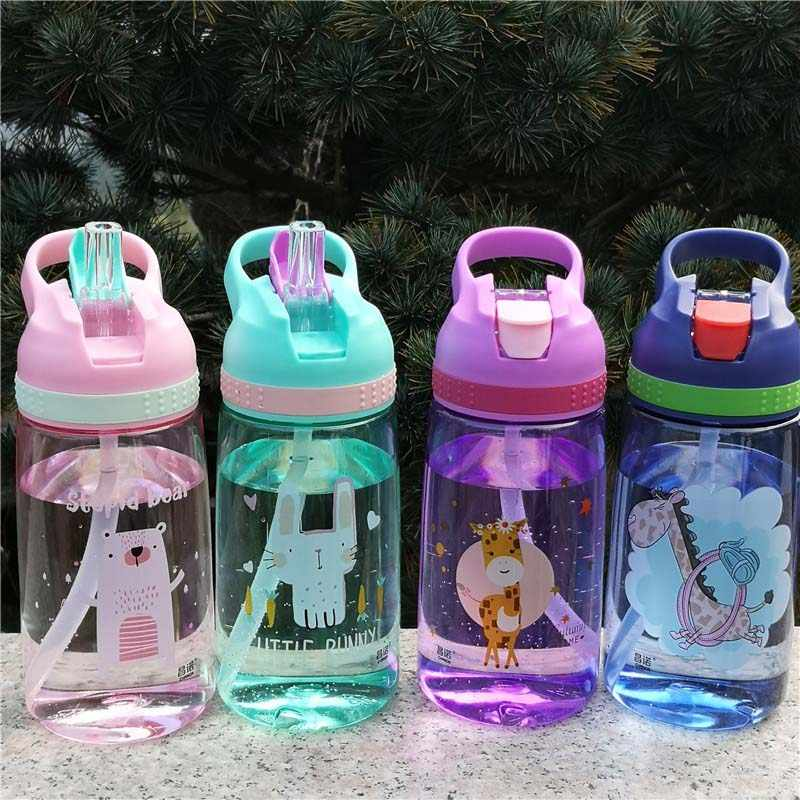 4 Colors 450ml Outdoor Kids Bottle Sport Healthy Life Hiking Climbing Bottle for Water My Children Water Juice Bottle