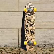 KOSTON pro dancing style longboard completes 44inch long skateboard completed set for board walking purpose