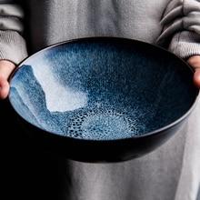 7.6 Inch Retro Porcelain Bowl Japanese Style Kiln Glazed Ceramic Bowl For Rice, Soup, Noodles, Cereal, Salad And Desserts