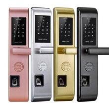 Smart Lock Electronic Keyless Door Lock Electronic Fingerprint Bluetooth  Control Biometric Digital Double Sided Door Lock