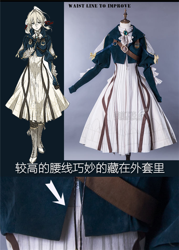 ╛Free ShipCosplay Costume Daily-Suits Gorgeous-Dress Anime Violet-Evergarden Japanese In-Stock═
