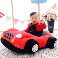 New Plush Toy Cute Cartoon Car Creative Children Sofa Cushion Baby Birthday Gift Infant Baby Seats Sofa Learning to Seat