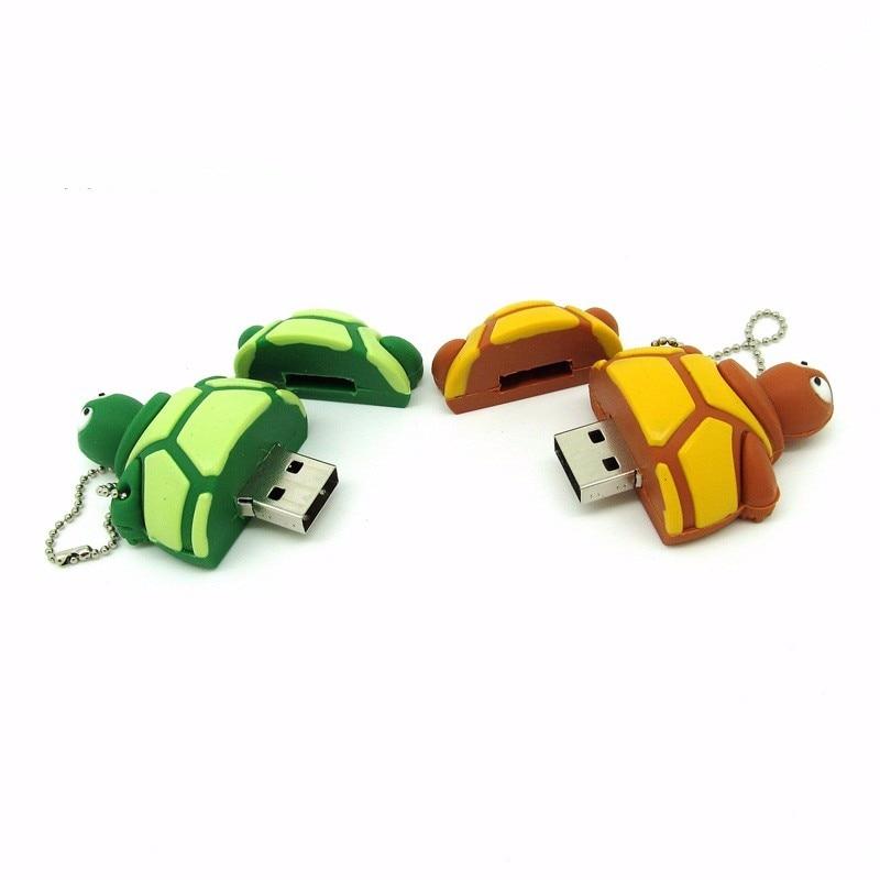 Usb Flash Drive Cartoon Turtle Memory Disk Pen Drive Personalized Stick 5 Styles Tortoise Pendrive 4gb 8gb 16gb 32gb Tablet Gift