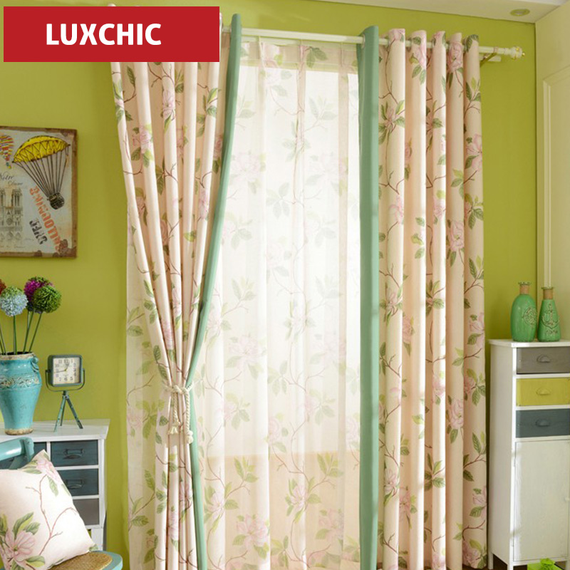 HOT american Printed Linen Cotton font b Curtains b font for Living Room Bedroom font b