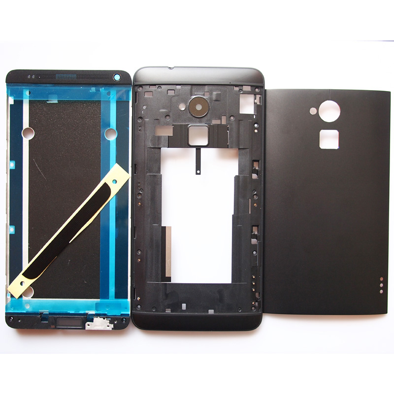 BaanSam New LCD Front Frame Middle Frame Battery Door Back Cover Housing Case For HTC One