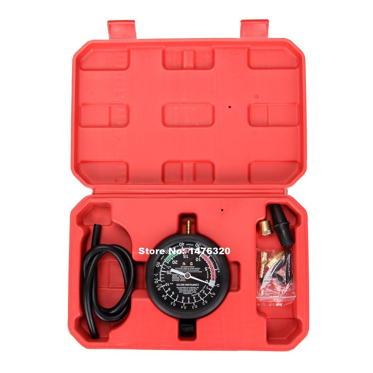 Car Fuel Pump And Vacuum Gauge Pressure Tester Tool Set AT2153
