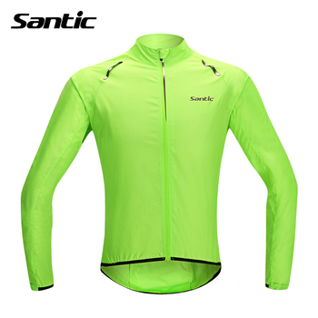 Santic koszulka kolarska wodoodporna do roweru szosowego i górskiego koszulka z długim rękawem wiatroszczelna koszulka na rower płaszcz przeciwdeszczowy Maillot Ciclismo tanie i dobre opinie Poliester Pełna cycling jerseys Winter summer Wiosna AUTUMN Koszulki Zamek na całej długości Jazda na rowerze Pasuje prawda na wymiar weź swój normalny rozmiar