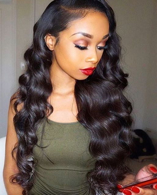 Glueless Full Lace Wig Brazilian Deep Body Wave Full Lace Human Hair Wigs  For Black Women b9af5b0e7e