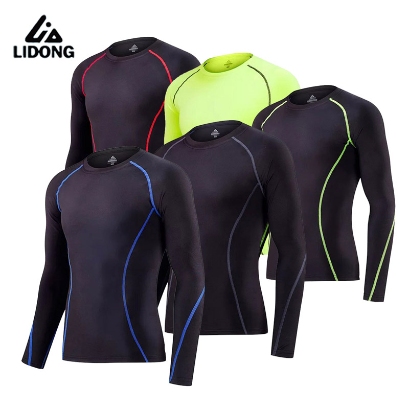 Impartial Men 2 Pcs Running Sets Long Sleeves Shirts Tight Pants Basketball Fitness Gym Suits Male Breathable Cool Bodybuilding Tracksuit Running Sets