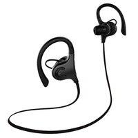 Con cancelación de ruido impermeable IPX4 sport 2017 Girar 360 grados más delgado En La Oreja Los auriculares inalámbricos auriculares Bluetooth-Negro
