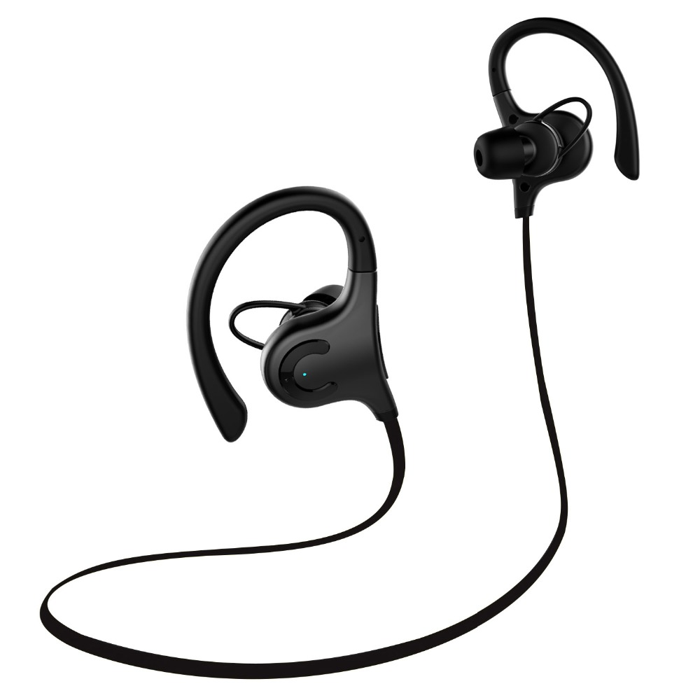 Noice cancelling waterproof IPX4 sport 2017 slimmest In-Ear wireless headphone Rotate 360 degree Bluetooth headsets-Black lexin 2pcs max2 motorcycle bluetooth helmet intercommunicador wireless bt moto waterproof interphone intercom headsets