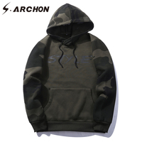 S ARCHON Spring Autumn Camouflage Tactical Hoodies Men Military Style Hooded Patchwork Fleece Sweatshirt Male Army