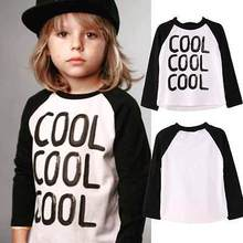 Baby Boy Clothes Kids Spring Autumn Cotton Letters Printed T-shirt Long Sleeve Tops 2016 New