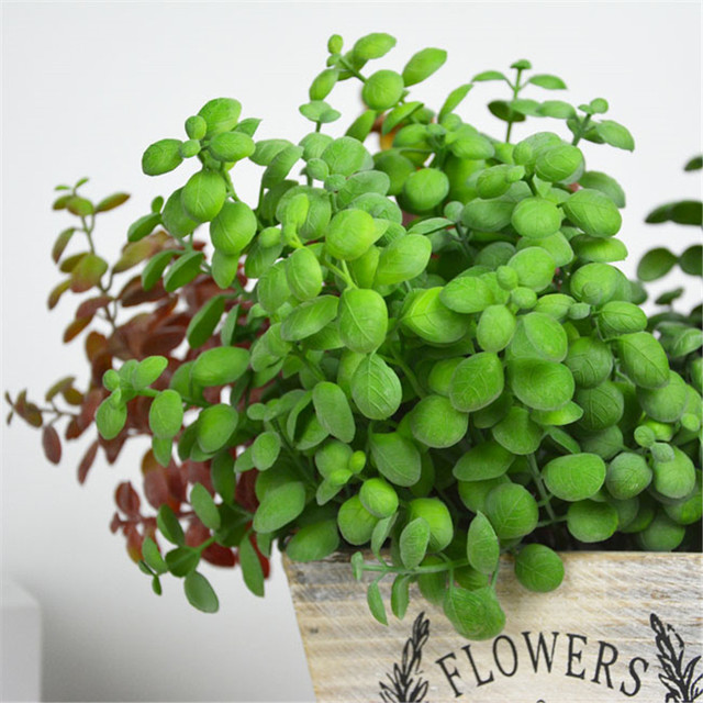 new artificial leaves bean sprouts shell leaf artificial succulents christmas decoration home accessories plantas