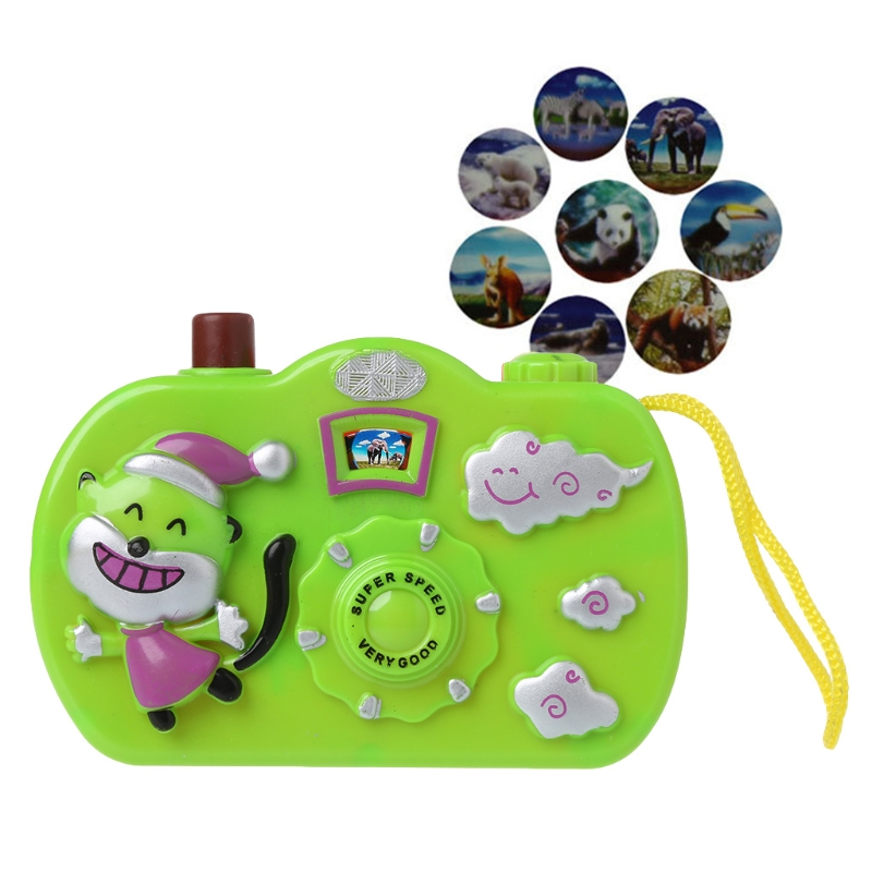 Bear Cartoon Camera Animal Pattern Light Projection Camera Toy Educational Toys Children Gift