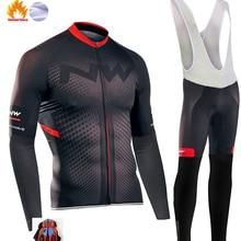 Northwave Pro Team Зимняя одежда для велоспорта дышащая Ropa Ciclismo Одежда с длинным рукавом для горного велосипеда одежда для спорта на открытом воздухе