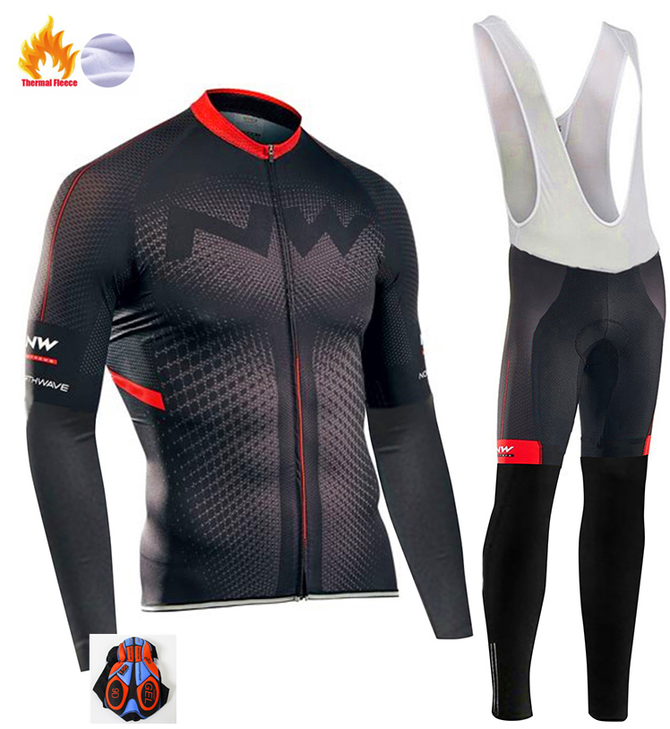 2018 Northwave Pro Team Winter Cycling Clothing Breathable Ropa Ciclismo Long Sleeve MTB Bicycle Clothing Outdoor Sport Clothes