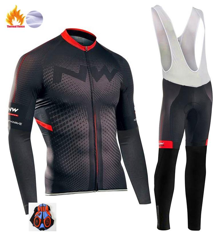 2020 Northwave Pro Team hiver vêtements de cyclisme respirant Ropa Ciclismo à manches longues vtt vélo vêtements de Sport de plein air vêtements