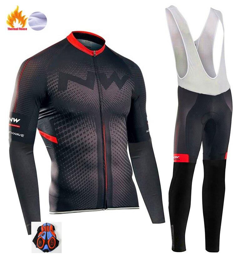 2020 Northwave Pro Team zimowa odzież rowerowa oddychająca Ropa Ciclismo z długim rękawem rower MTB odzież Outdoor ubrania sportowe