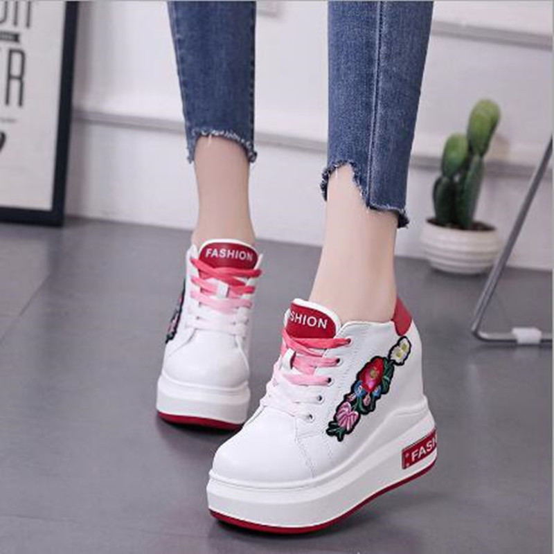 2018 Hot Summer Womens Shoes Hidden Wedge Printed High Heels Ladies Elevator Shoes Womens Shoes Ankle Shoes