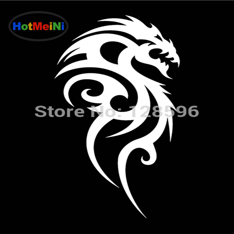 Exterior Accessories Sunny Hotmeini 13x5cm Dragon Fire Car Window Jdm Sticker For Rearview Mirror Truck Suv Bike Helmet Art Wall Vinyl Black/sliver Attractive Appearance