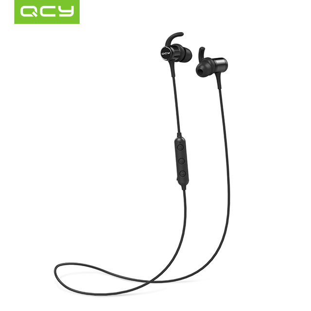 2018 QCY M1C Magnet Adsorption Bluetooth Headphones Wireless Earphones  Sports IPX4 Headphone with Mic For Phones and Music c4edd492a7