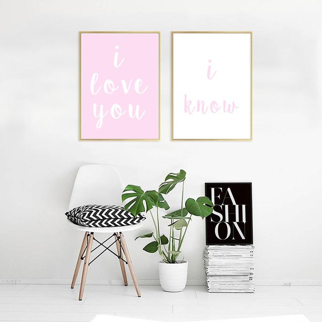 Love Quote Signs Delectable Aliexpress  Buy I Love You I Know Canvas Print Love Quote