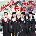 Harry Potter Robe Gryffindor Traje Cosplay Crianças Harry Potter Adulto Robe Manto Trajes de Halloween Para Crianças