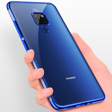 For Huawei mate 20 pro Case Transparent Plating Silm case for Mate Lite Ultra thin electroplate tpu shining cover