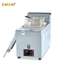 commercial 6L gas deep fryer machine Single tank