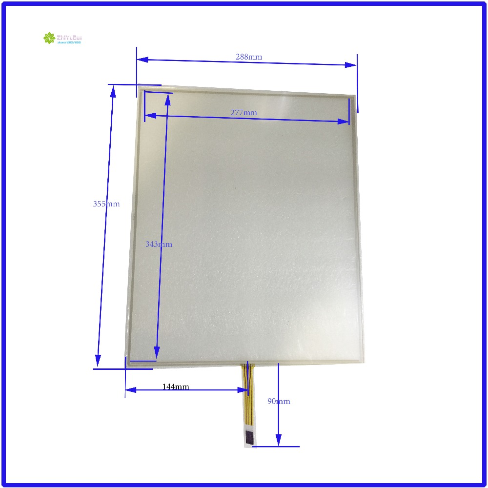 ZhiYuSun  288mm*355mm 17inch 4 lins Touch Screen glass touchsensor 288*355touchglass digitizer GLASS Good Industrial use zhiyusun new 10 4 inch touch screen 239 189 for industry applications 239mm 189mm 8 lins 47f8104025 r13 commercial use