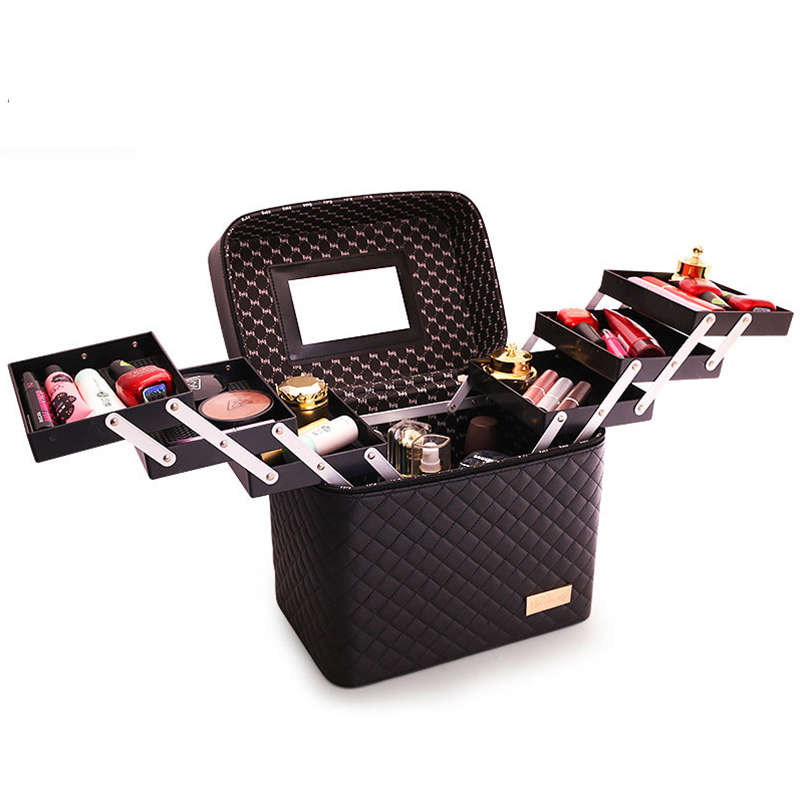 Large Capacity Cosmetic Bag New Women Makeup Bag Organizer For Cosmetics Toiletry Bags Multi layer Storage