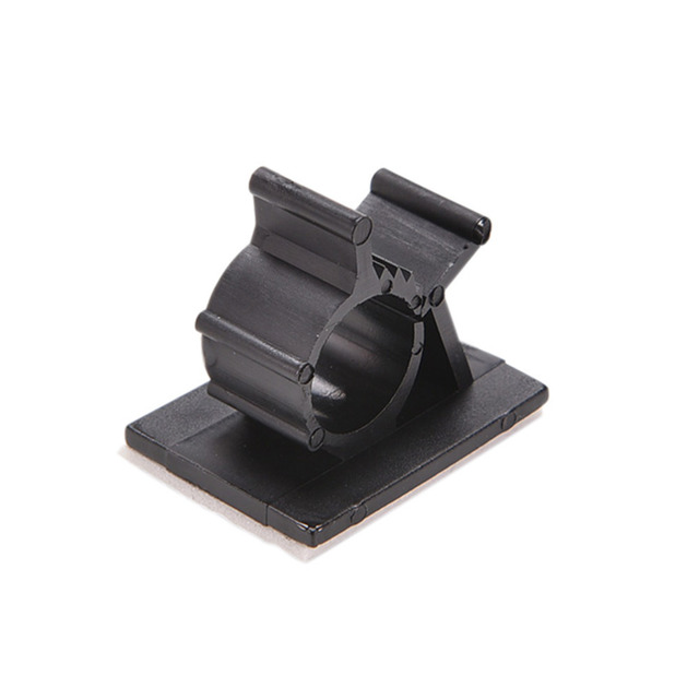 10pcs /pack Black Adhesive Backed Nylon Wire Adjustable Cable Clips ...