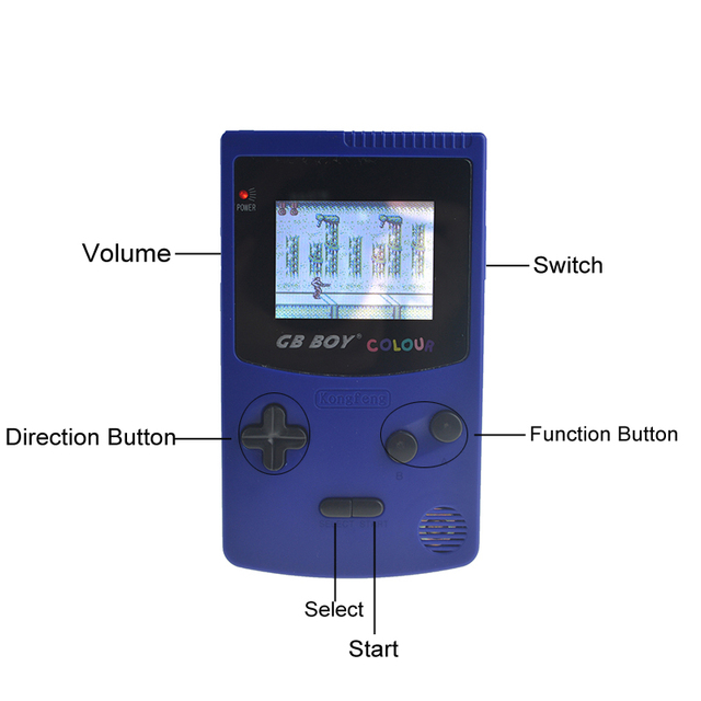 GB Boy Color Colour Handheld Game Consoles Game Player with Backlit 66 Built-in Games 5 Colors GB Boy Hand Held Games 2