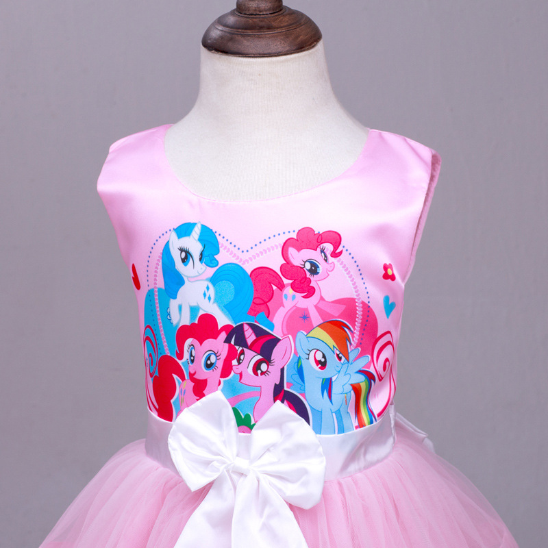 1378f9fe5041f My Little Pony Clothes Girls Sundress Dresses Summer 2016 Girl Princess  Maxi Dress Party Bow Kids Formal Dress Birthday Costume-in Dresses from  Mother ...