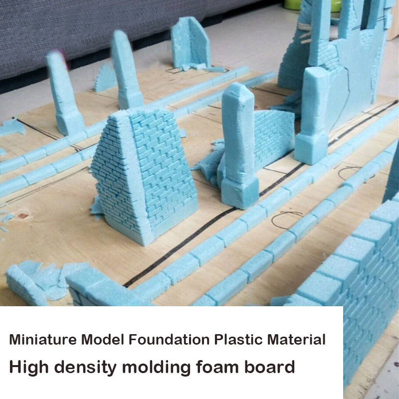 Miniature Model Foundation Plastic Material  High Density Molding Foam Board  Situational Sand Table Making Diy Material