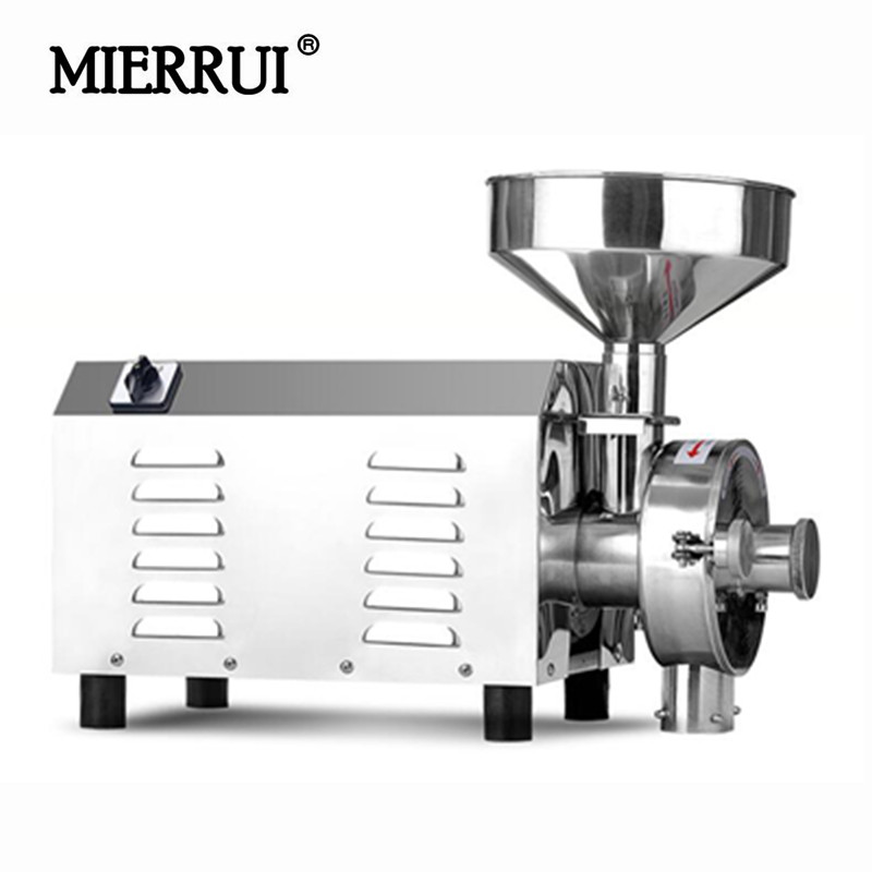 220V/110V Commerical Pulverizer Mill 3.0KW Electric Spices/Pepper/Grain Crusher Stainless Steel Powder Grinding Machine