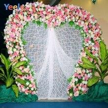 Yeele Wedding Ceremony Photocall Flower Curtain Decor Photography Backdrop Personalized Photographic Background For Photo Studio