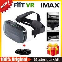 VR Shinecon White VR BOX Virtual Reality Glasses Headmout 3D VR Glasses Google Cardboard Bluetooth Gamepad