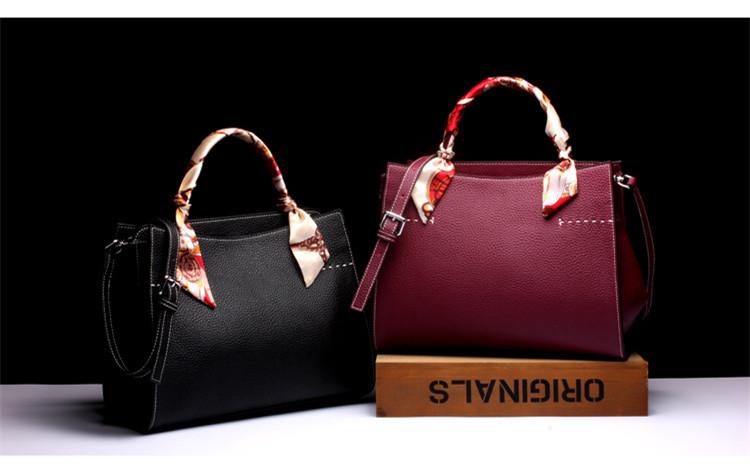 Handbags Handbag Female Leather Tote Bags Female Genuine Leather Shoulder Bags