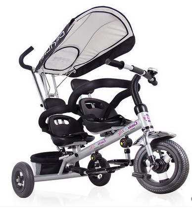 Baby font b stroller b font twins children tricycle bike two seater tricycle font b double