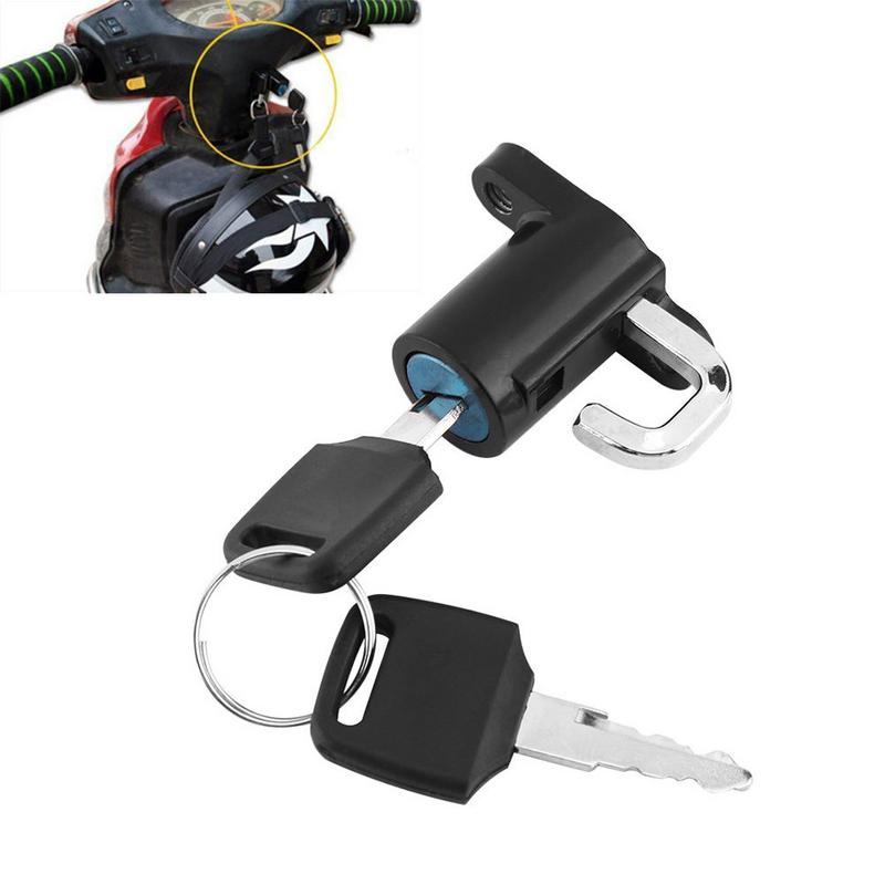 Professional Motorcycle Universal Helmet Lock Fixed Buckle With Two Keys For Universal Motorcycle Model Aluminum Alloy
