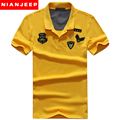 Men Polo shirt New 2017 Summer 100% Cotton Breathable Casual T shirts Short Sleeve Brand NIANJEEP Original Classic Air Force One
